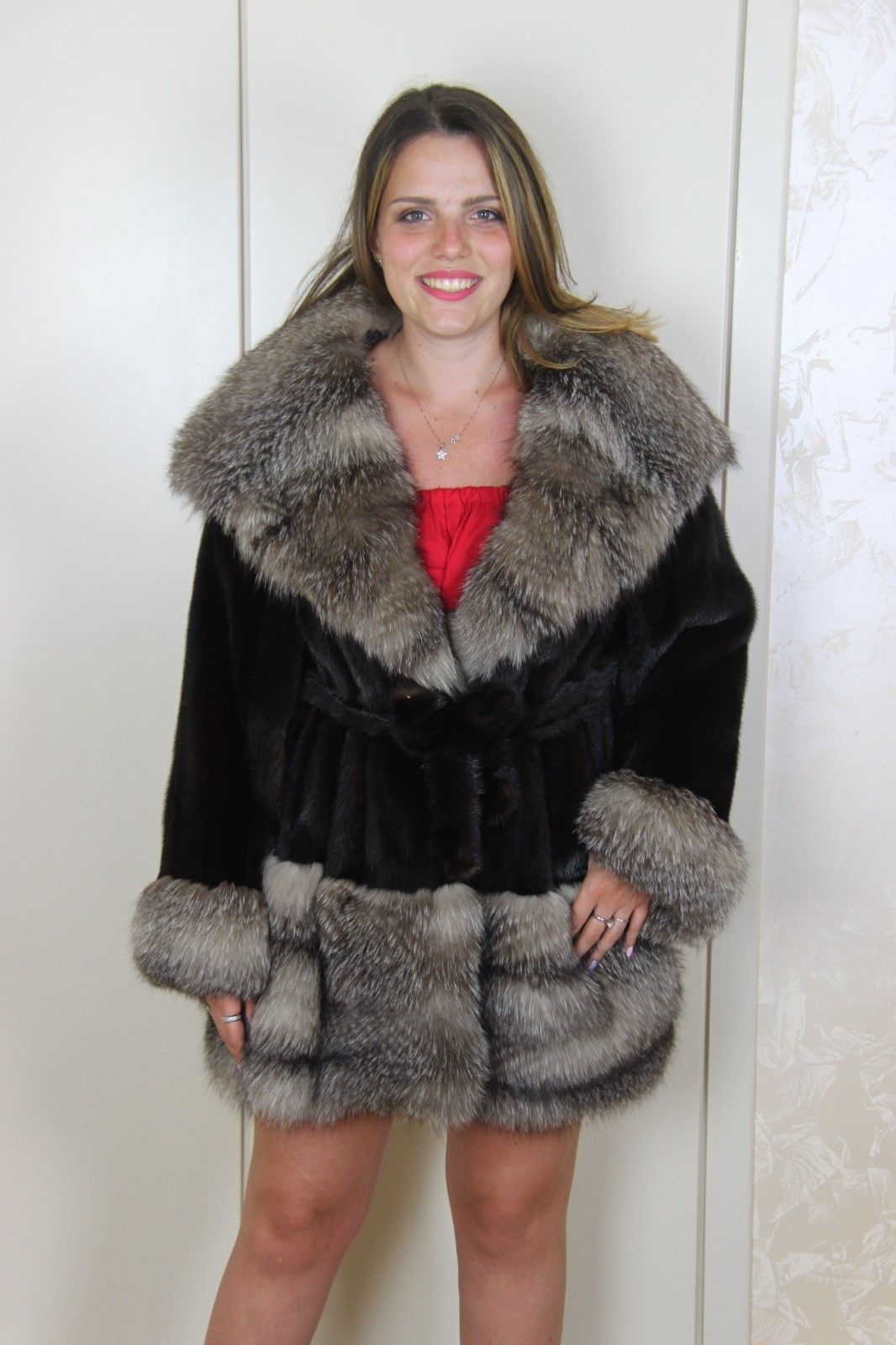 the best attitude 9eb5f 353a8 Details about MINK COAT FOX PELLICCIA VISONE FUR FOURRURE ...