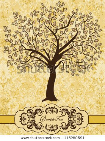 Family Reunion Invitation Card - stock vector Family reunion