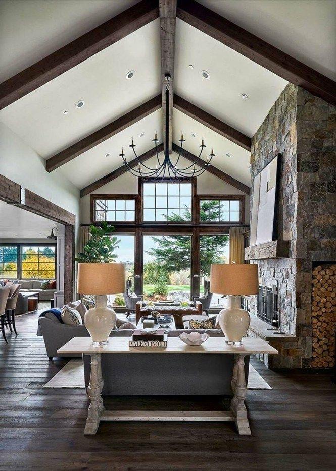 44 Beautiful Rustic Farmhouse Living Room Design Ideas