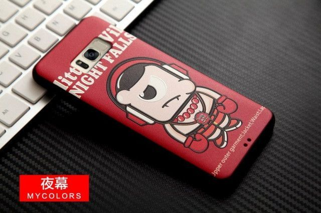 Samsung S8 3D Stereo Relief Painting Back Covers Soft Silicon Phone Protector Funda Capa