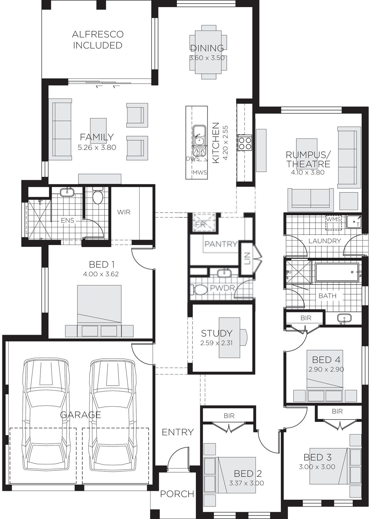 Stroud Home Design 4 Bedroom Floor Plans Rawson Homes House Plans Australia Bedroom Floor Plans Simple Floor Plans