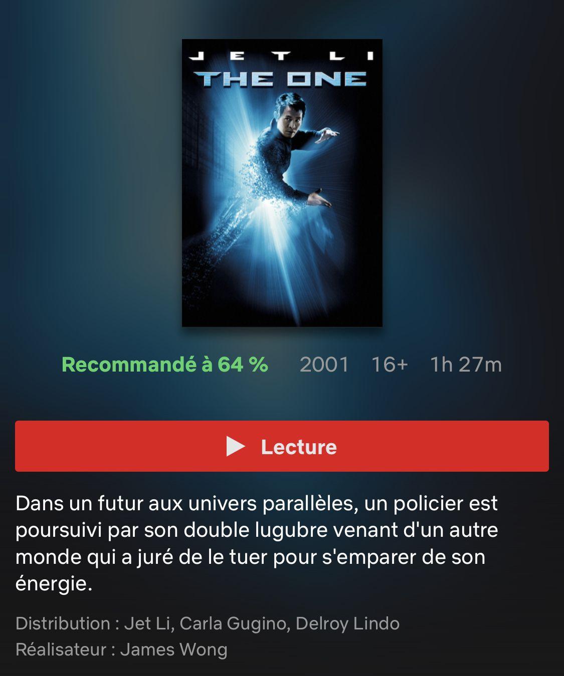 Theone Jet Li Carla Gugino Univers Parallele