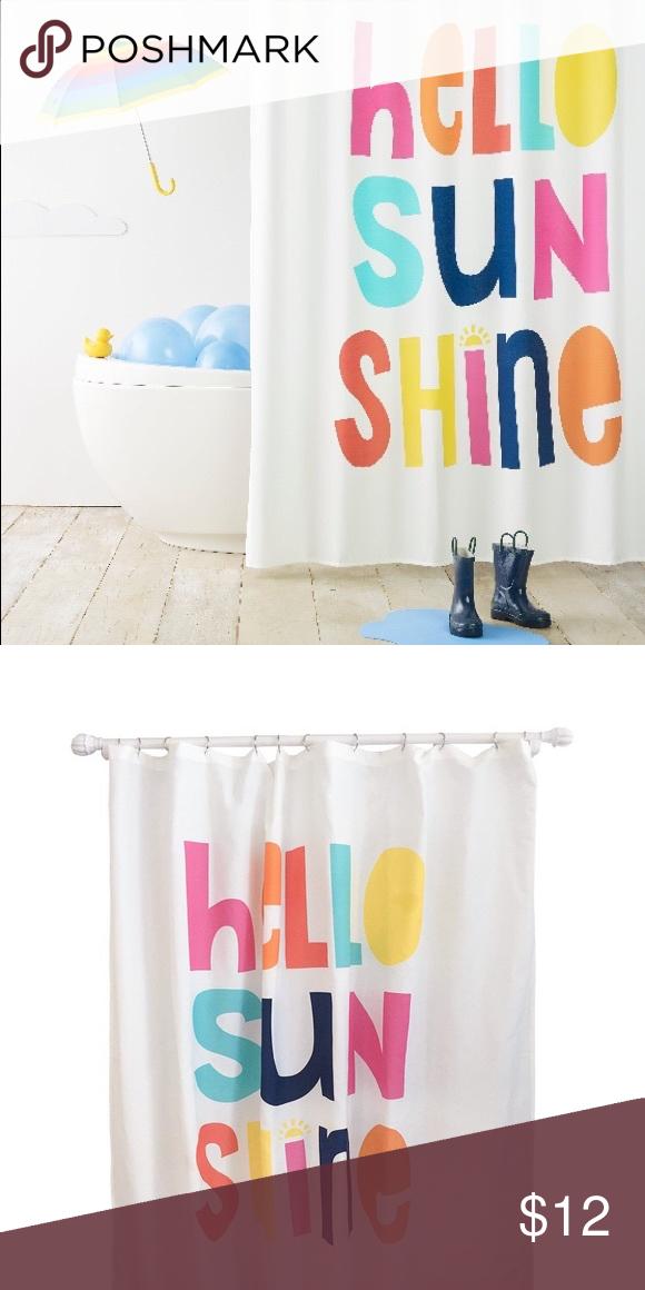 Hello Sunshine Shower Curtain Shower Shower Curtain Curtains