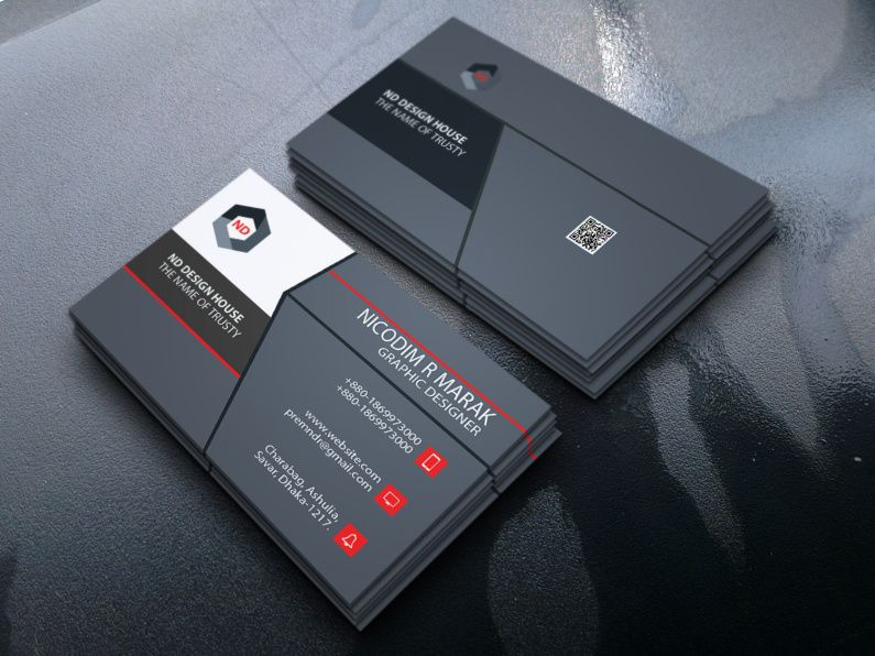 simple eyecatching business card design  business card