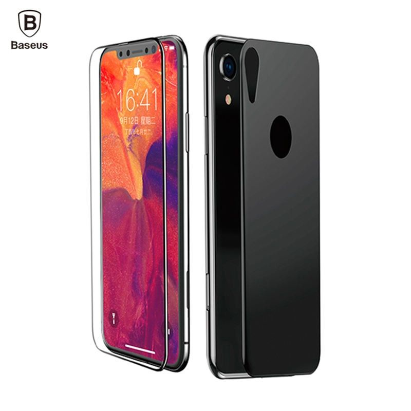 Baseus front back film set for iphone xs xr xs max