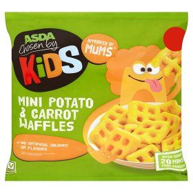 Asda Chosen By Kids Mini Potato Carrot Waffles Online Food