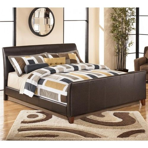 Stanwick King Faux Leather Upholstered Bed By Signature Design By