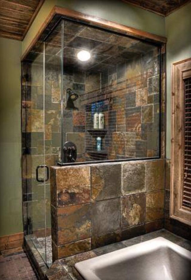 Like the fully enclosed and the glass | Bathroom Remodel | Pinterest ...