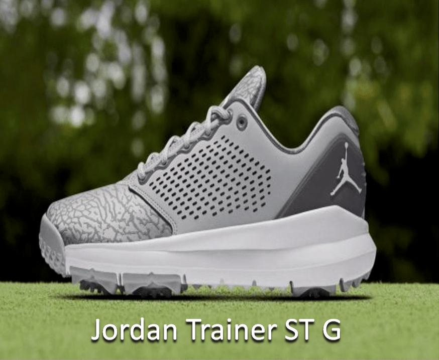 nike jordan trainer st g men's golf shoe
