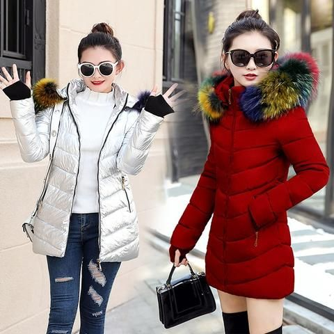 1fd85ec0cf213 2018 New Parkas Female Women Winter Coat Thickening Cotton Winter Jacket  Womens Outwear fur Parkas for Women Winter