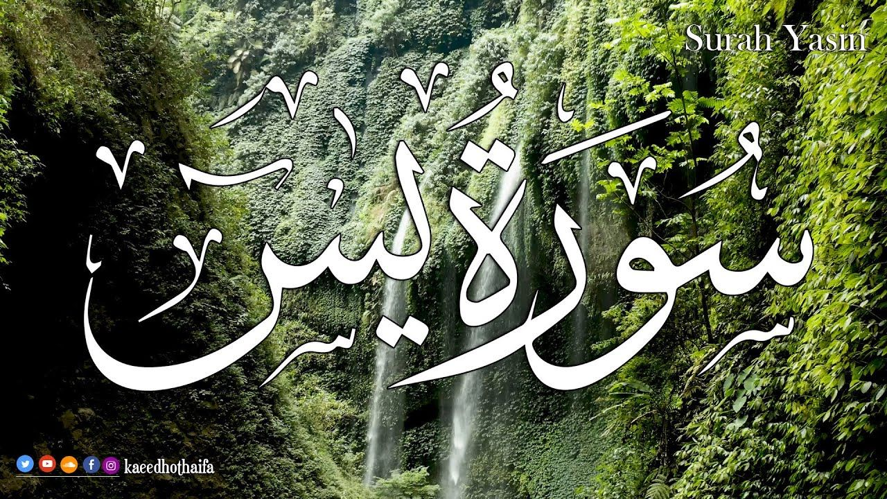 سورة يس كاملة بأروع وأجمل صوت القارئ حذيفة الكعيد Surah Yasin Yase Arabic Calligraphy Art Beautiful