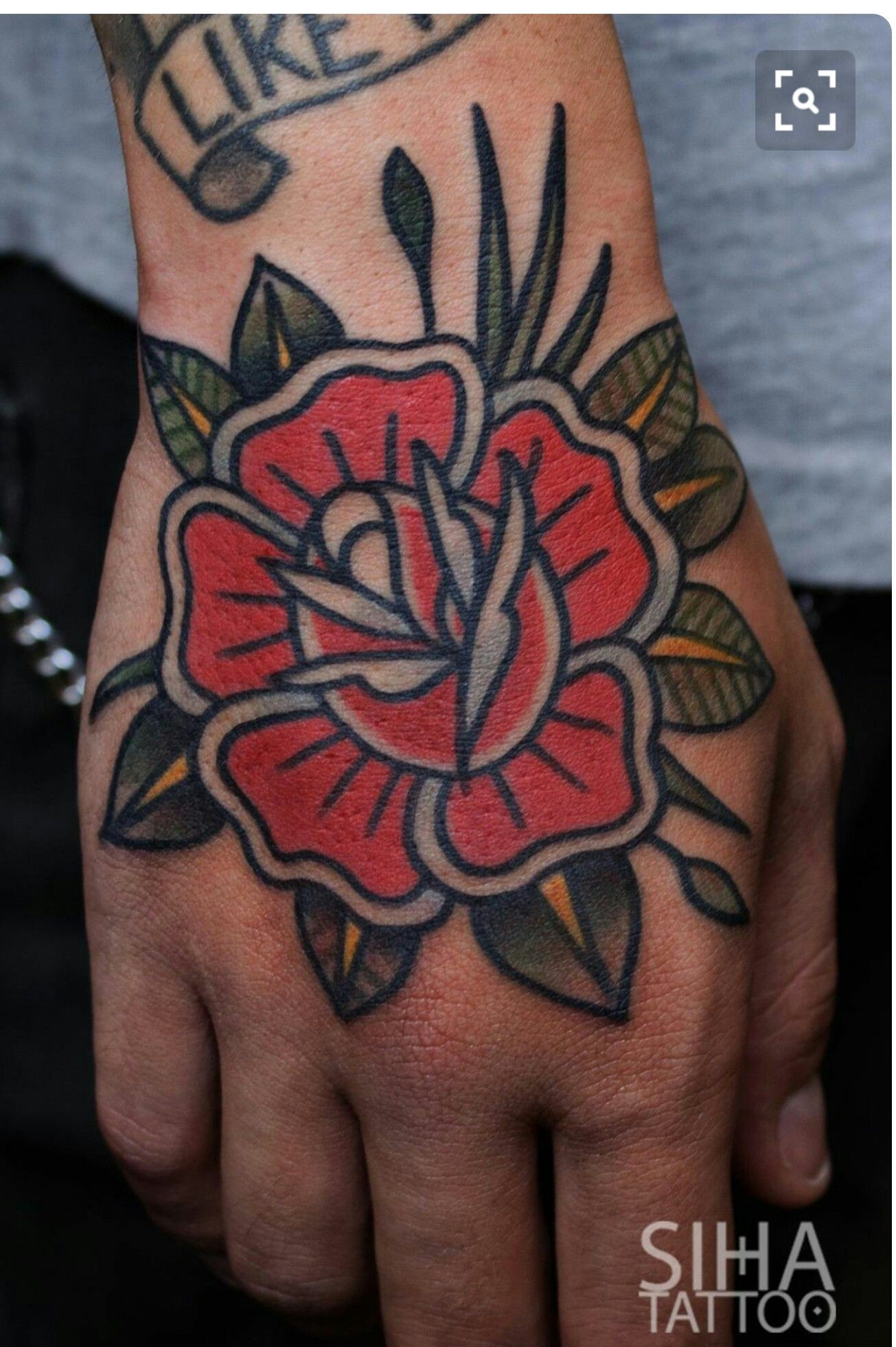 Traditional Flower Tattoo Traditional Rose Tattoos Traditional Tattoo Flowers Traditional Tattoo