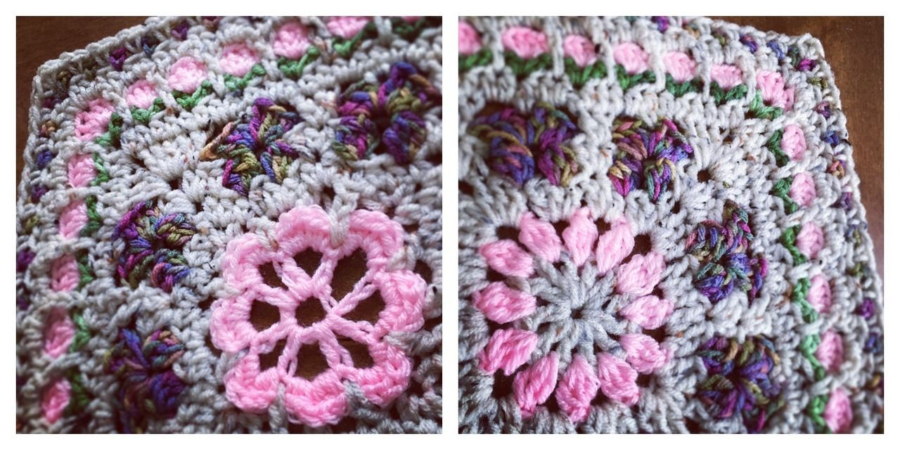 Blooming Garden Afghan Block.. They are the same except the center flower. Both patterns free to view on my blog with video tutorials. http://dearestdebi.com/blooming-garden-afghan-block-2-0