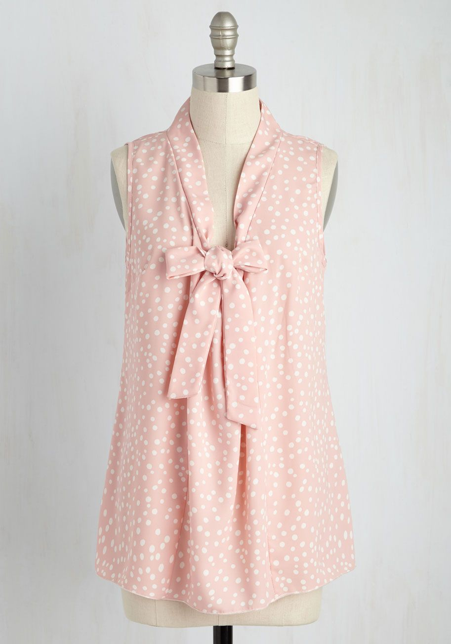 Miami Moments Top in Blush Dots, @ModCloth