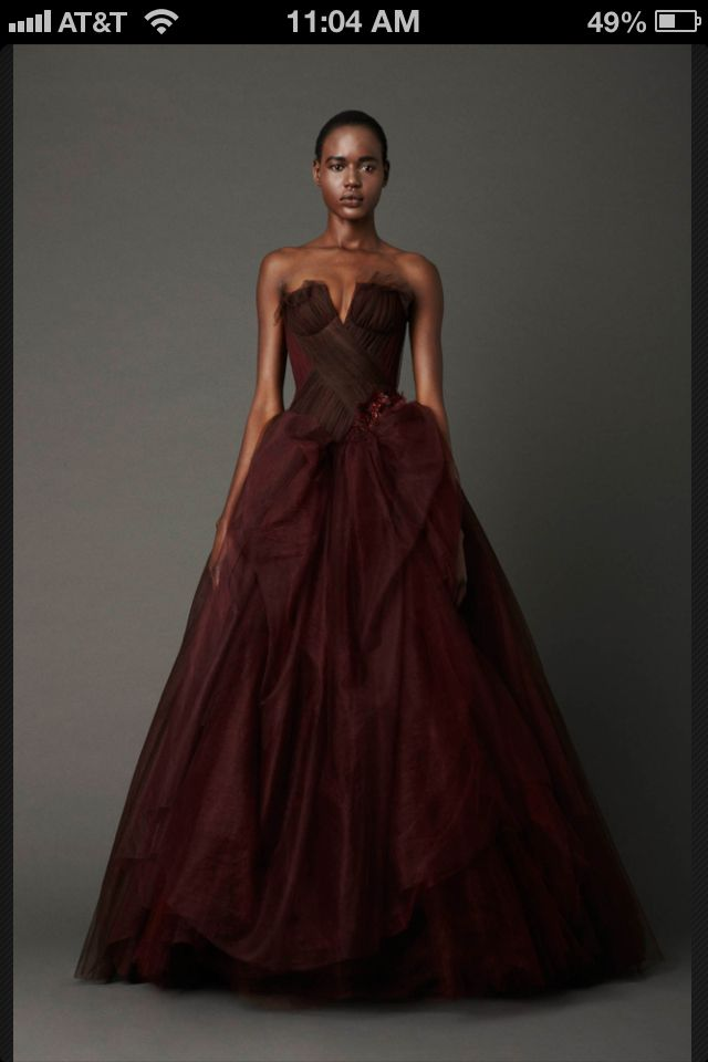 Vera Wang Wedding Spring 2013 Oxblood Beautiful Scarlet