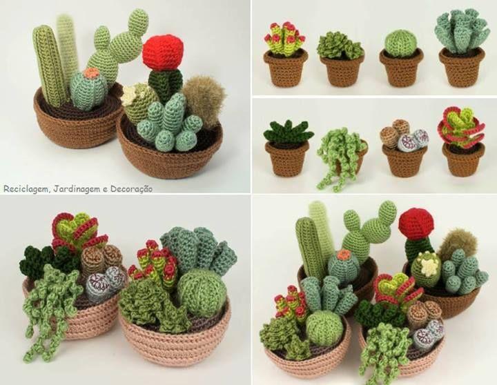 Amigurumi Cactus : Cactus tejidos al crochet cactus tejidos cacti