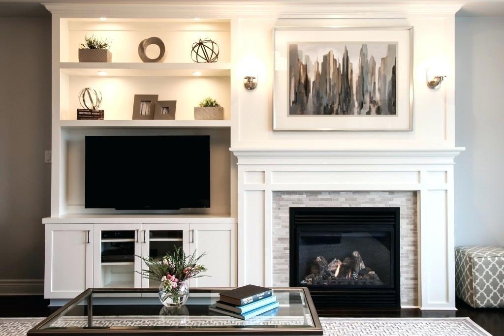 Entertainment Center Ideas Next To Fireplace