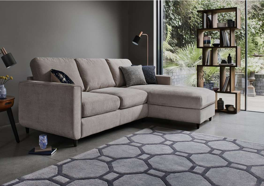 Esprit Fabric Chaise Sofa Bed With Storage In 2020 Chaise Sofa Sofa Bed Design Sofa Bed With Storage