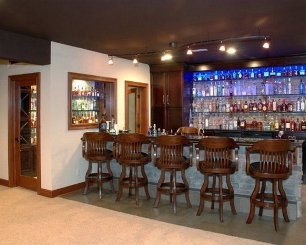 Glass Wine Rack Shelves And Stone Bar Table Also Wooden Bar Stools Design  Ideas: Inspirational
