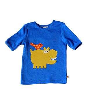 Look what I found on #zulily! Blue & Yellow Hippo Tee - Infant & Toddler by Sam and Sydney #zulilyfinds