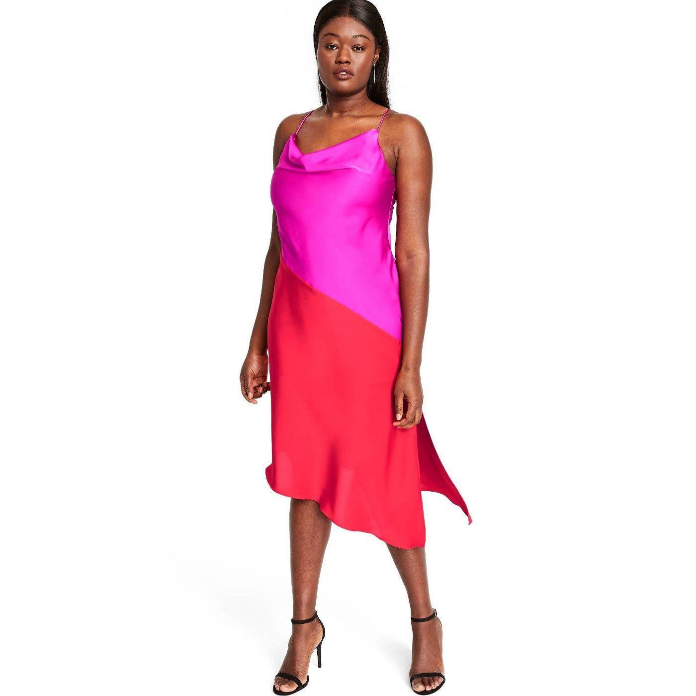 Women S Two Tone Slip Dress Cushnie For Target Regular Plus Magenta Pink Red Sponsored Dress Affiliate Cush Dresses Fall Fashion Outfits Slip Dress [ 1400 x 1400 Pixel ]