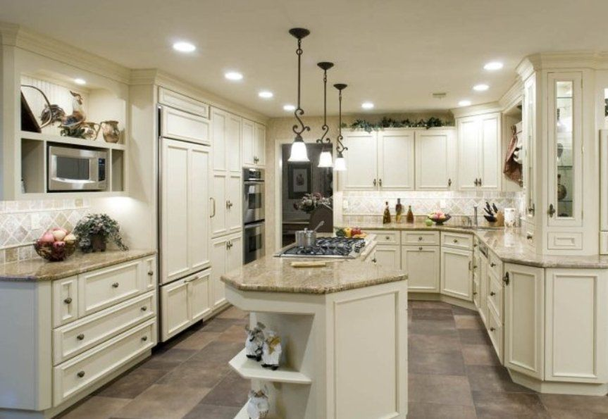 Honey Oak Kitchen Cabinets Gray Ceramic Floor Grey Kitchen Floor Grey Flooring Beautiful Kitchen Cabinets