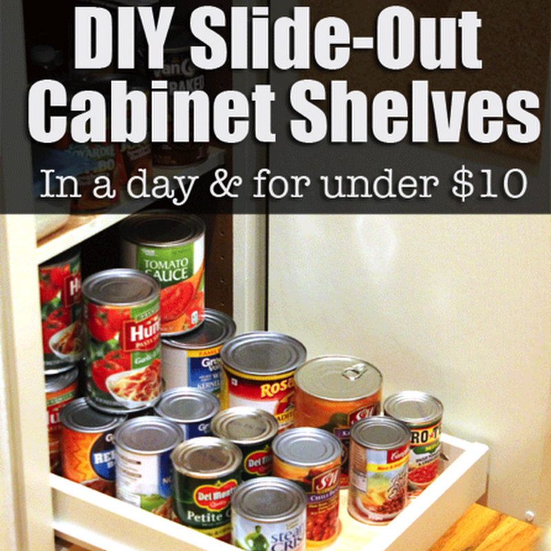 Organize Your Pantry with DIY SlideOut Shelves in