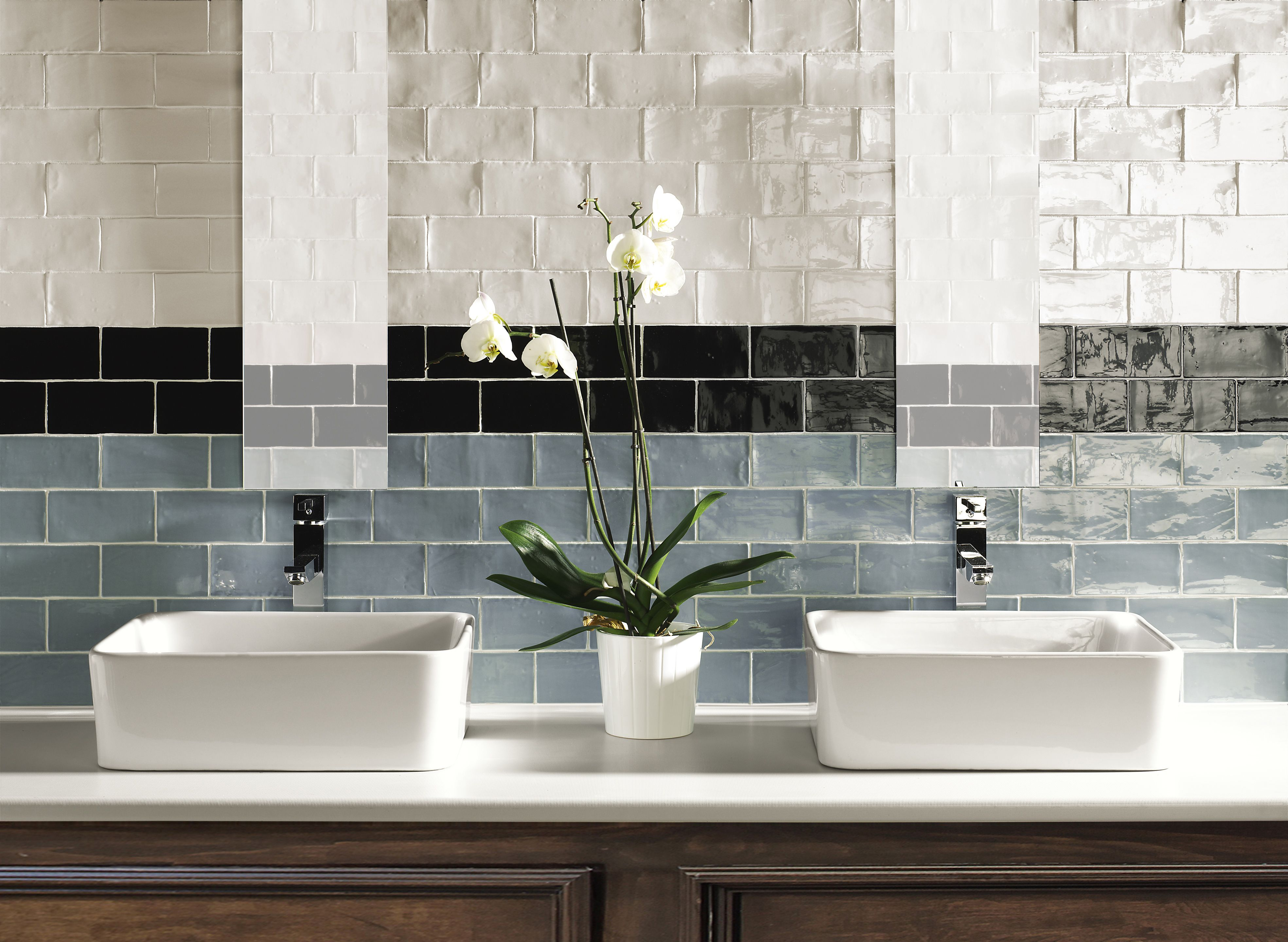Cotswold bianco nero and aqua kitchen laundry pinterest subway tiles we love them hand made subway tiles have that little extra that may be just what your splash back bathroom ensuite or feature walls need dailygadgetfo Image collections