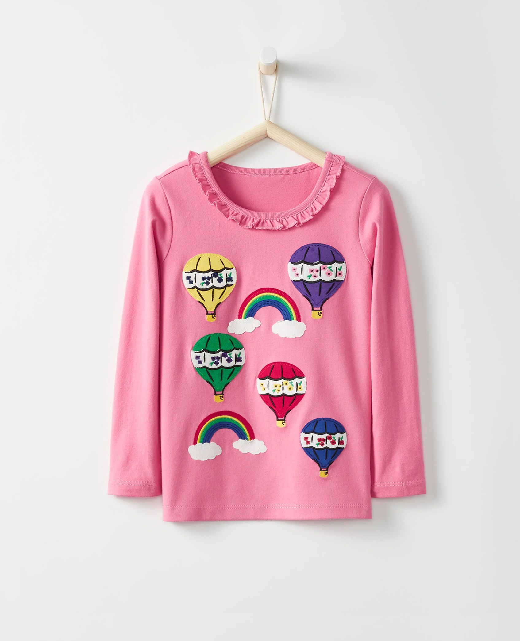 3a93cd7307bf88 Appliqué Tee In Supersoft Jersey in Cottage Pink - main   Mina ...
