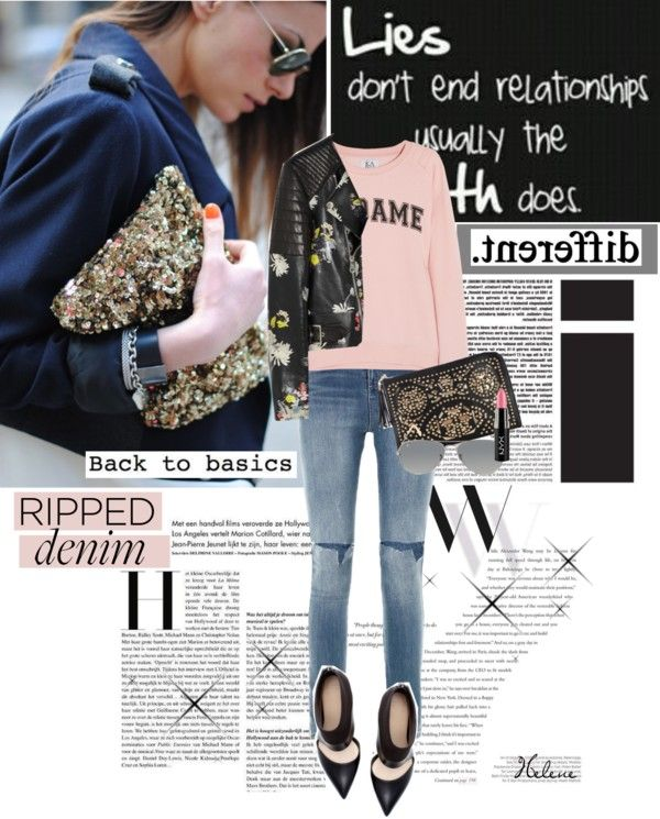 """""""Ripped Jeans"""" by helenevlacho on Polyvore"""