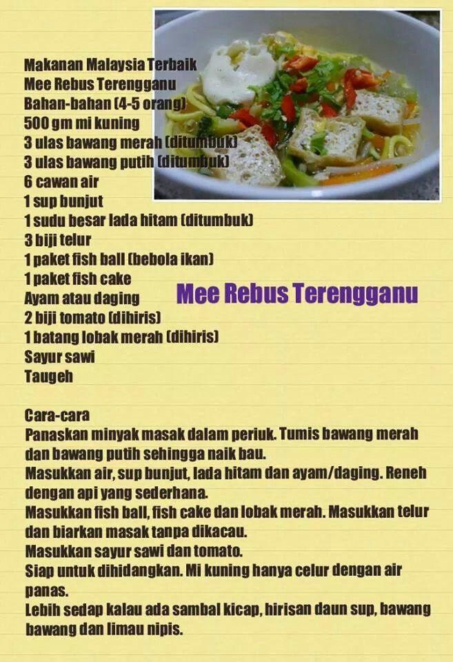 Mee Rebus Terengganu Savoury Dishes Malaysian Food Recipes
