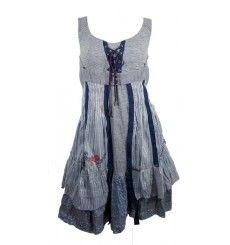 robe c fait pour vous grise et bleue robe originale femme pinterest robe. Black Bedroom Furniture Sets. Home Design Ideas