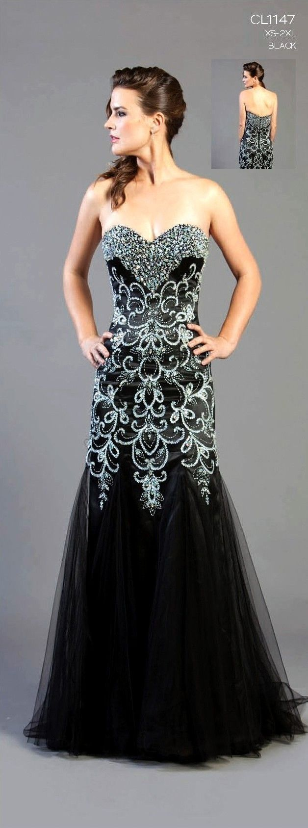 prom dresses long | ... STRAPLESS LONG BEADED UNIQUE PROM DRESS ...