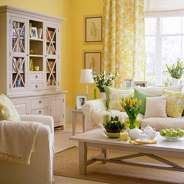 Yellow Bright Living Room Design