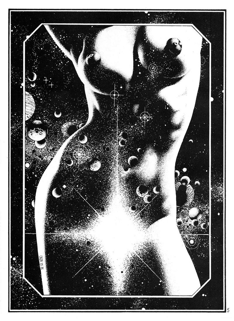 "Drawings by Philippe Caza, ""Hydrogenesis"" from Heavy Metal vol 2 #10"