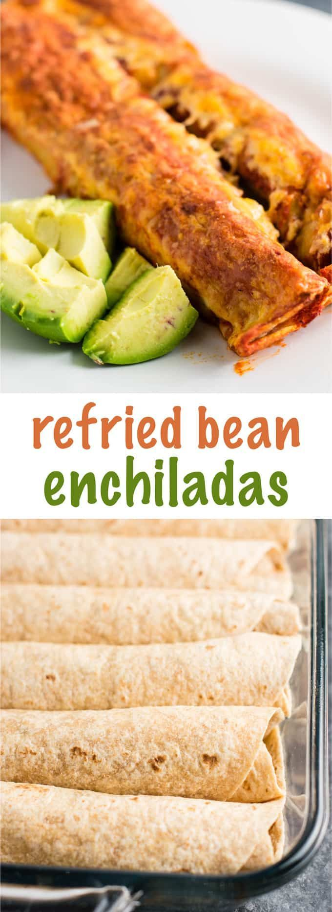 Easy Refried Bean Enchiladas Recipe - Build Your Bite Easy Refried Bean Enchiladas Recipe - Build Your Bite ... -