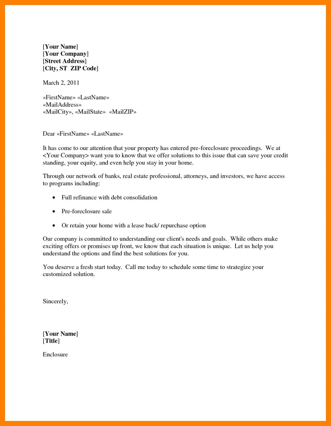 Get Our Image Of Foreclosure Letter Template In 2020 Letter