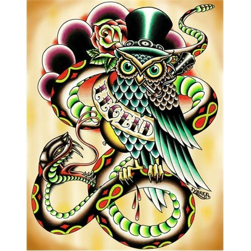 Legend By Tyler Bredeweg Tattoo Art Canvas Fine Print