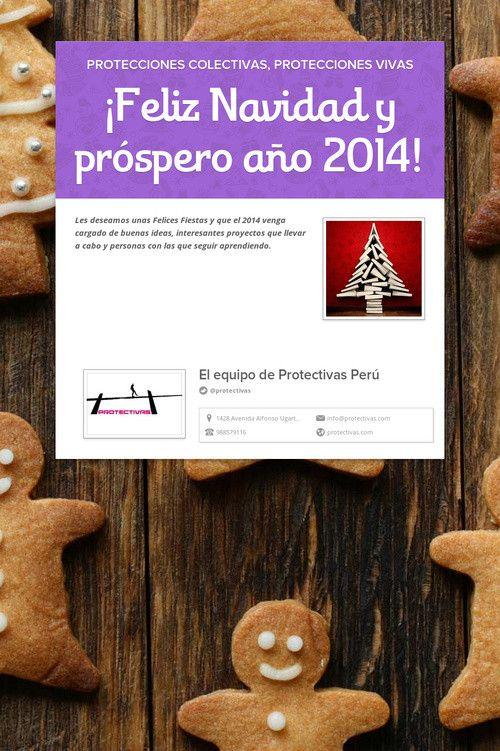 ¡Feliz Navidad y próspero año 2014!