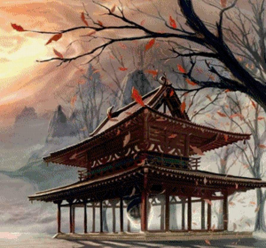 Схема вышивки «Пагода» - Схемы вышивки - 37Elena - Авторы - Портал «Вышивка крестом»