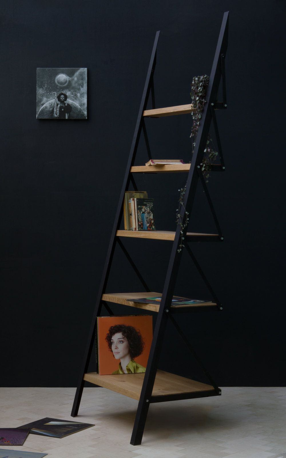 Five Shelf Ladder Bookcase in Product design Pinterest