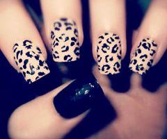 #Nails animal print nail art  www.finditforweddings.com
