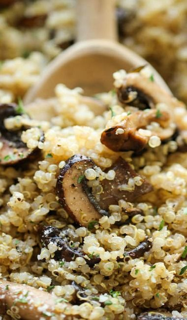 Garlic Mushroom Quinoa -   19 best quinoa recipes