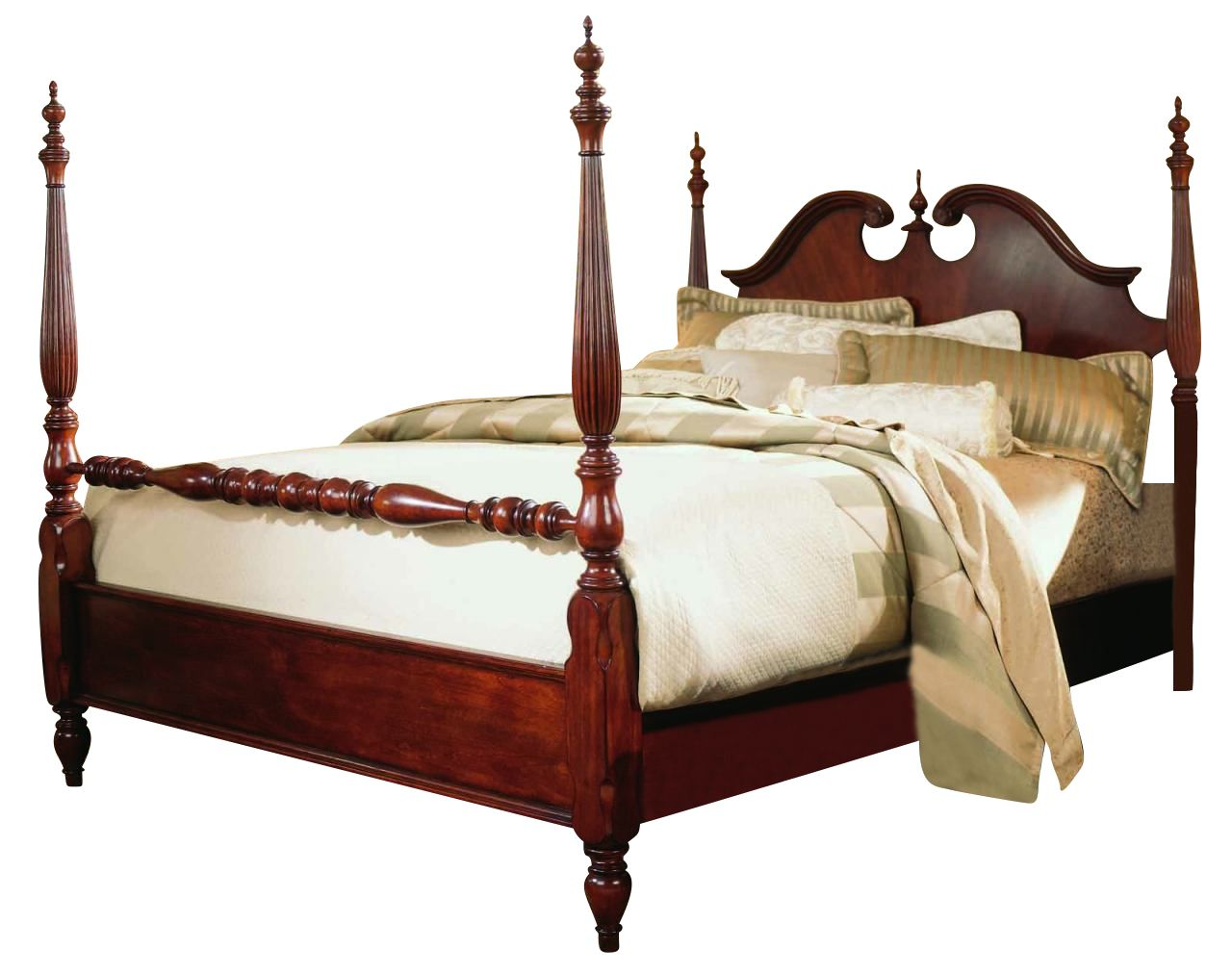 American drew cherry grove king low poster bed in beds