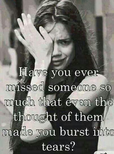 Feeling missing someone word