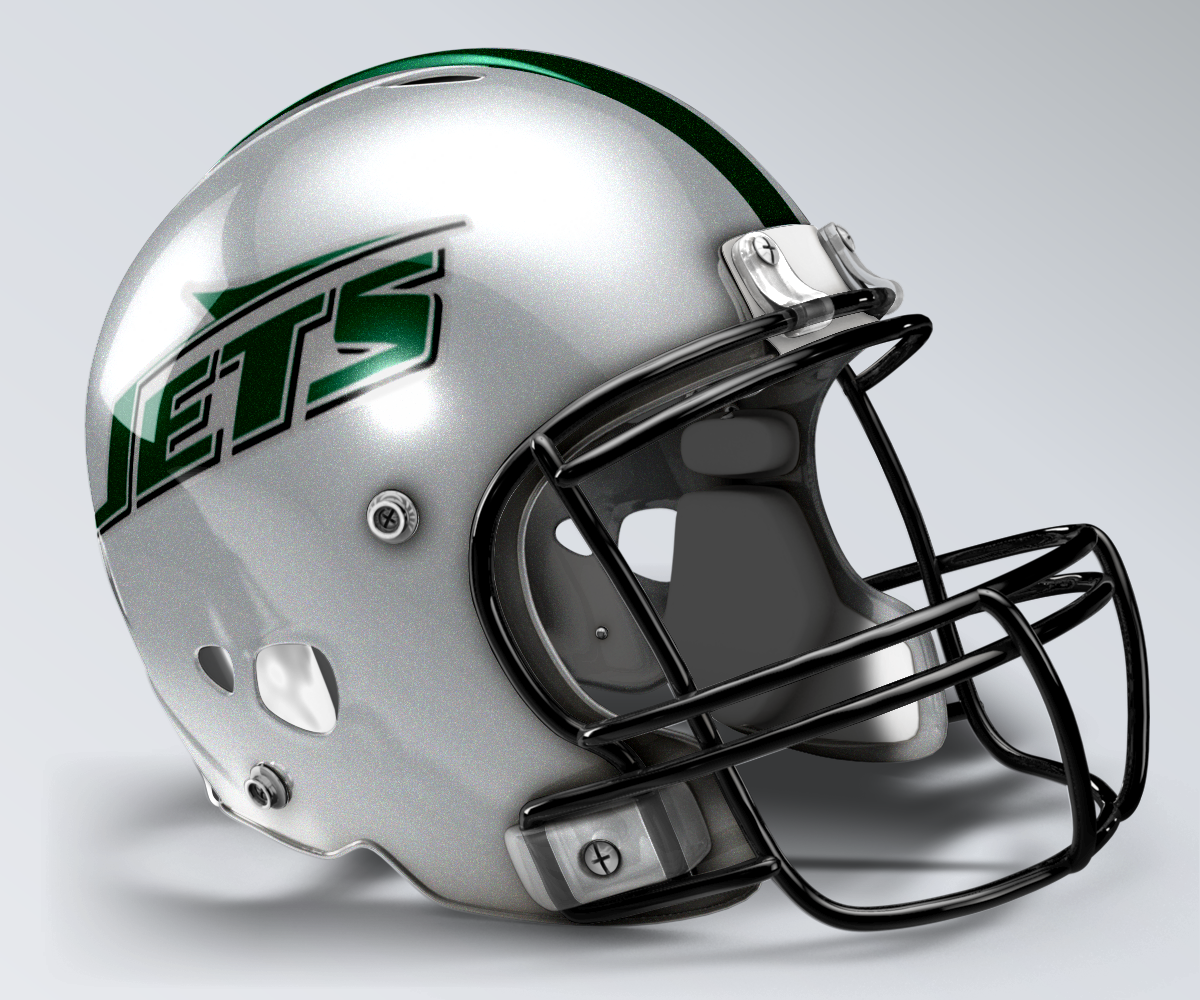 9371aac6d New York Jets Concept Helmet