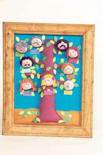 Rbol geneal gico de papel crep arbol geneal gico - Ideas para hacer un arbol genealogico ...