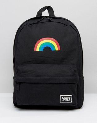 9fef907b21a Vans Rainbow Backpack In Black | Textiles patterns | Vans bags, Vans ...