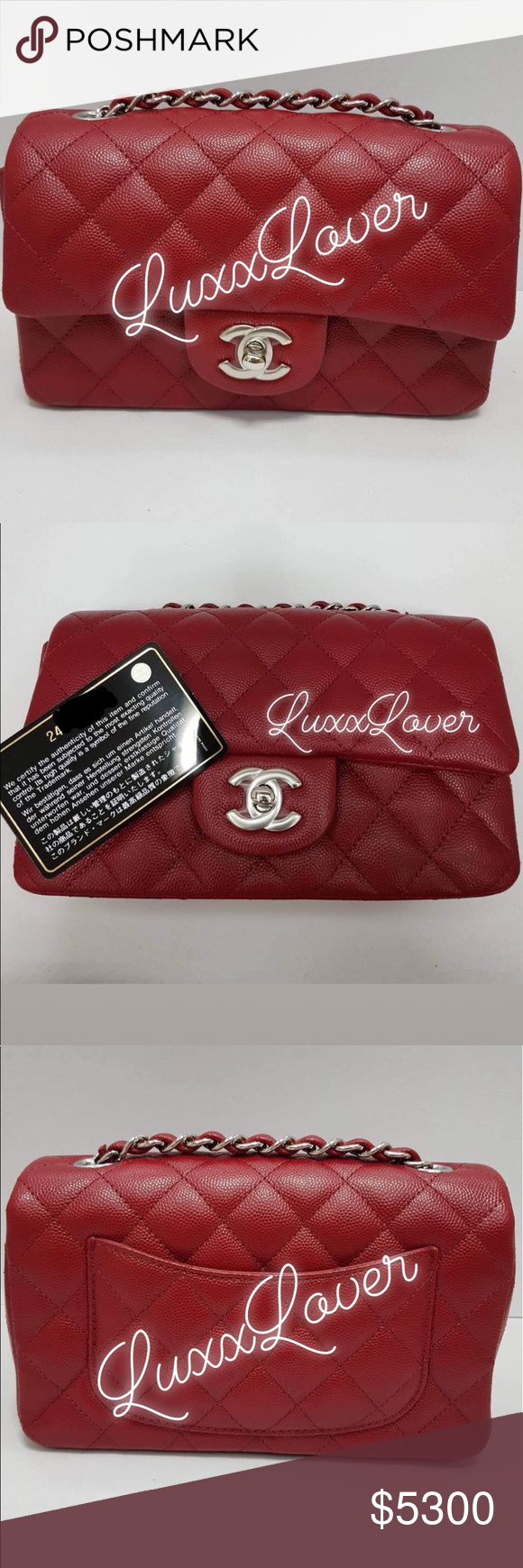 c634d682fd014 17B CC Red mini rectangle flap. BNIB never used. BNIB authentic 17B red  Chanel Mini Rectangle flap. Comes with complete box set. CHANEL Bags  Crossbody Bags