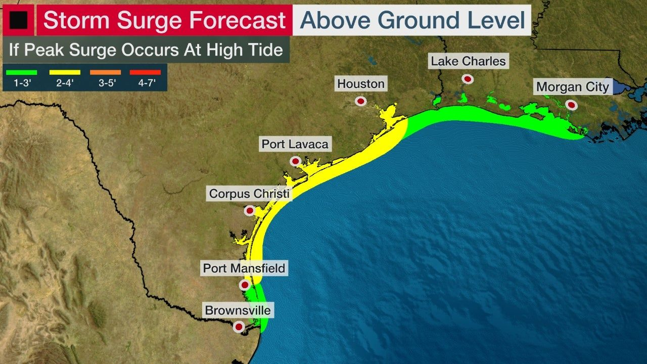 Hurricane Storm Surge Watches Issued For Texas Louisiana Coasts Ahead Of Tropical Storm Beta The Weather Cha In 2020 Storm Surge Tropical Storm The Weather Channel